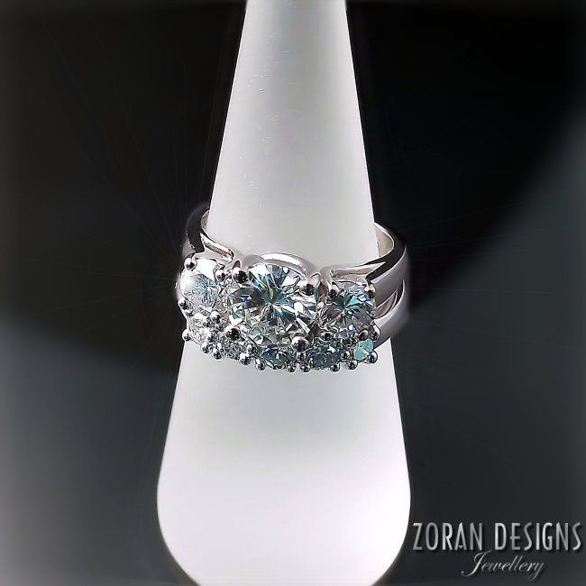"""LouAnne Disher - """"I have purchased several pieces fromZoran Jewellery and I am thrilled with all of them. I recently had my engagement ring redesigned ... Thanks to Maja her suggestions have made the ring more than I ever expected it would be .... It is beautiful!!!!"""""""