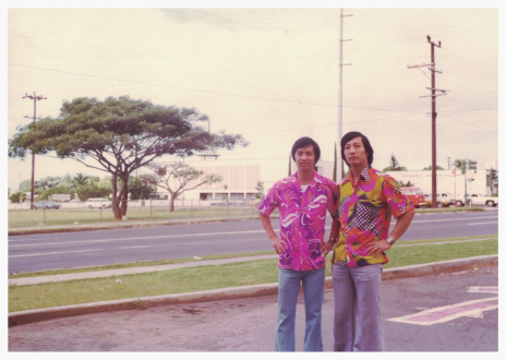 Uncle Sam and Dad somewhere near Kalihi and School St. circa 1975.