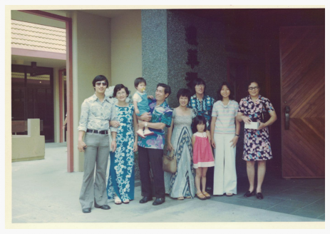 Dad, Auntie, Uncle and friends in Honolulu circa 1975.