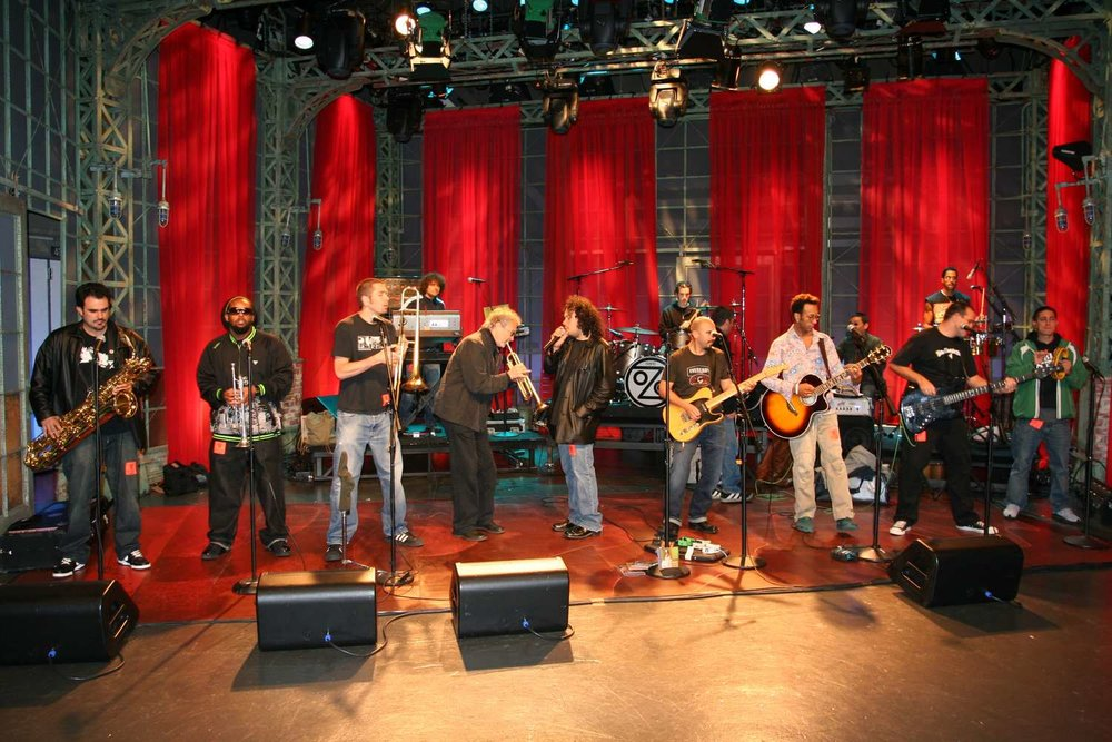 Anthony Marinelli performing with Herb Alpert featuring Ozomatli on the Jay Leno Show March 16, 2006