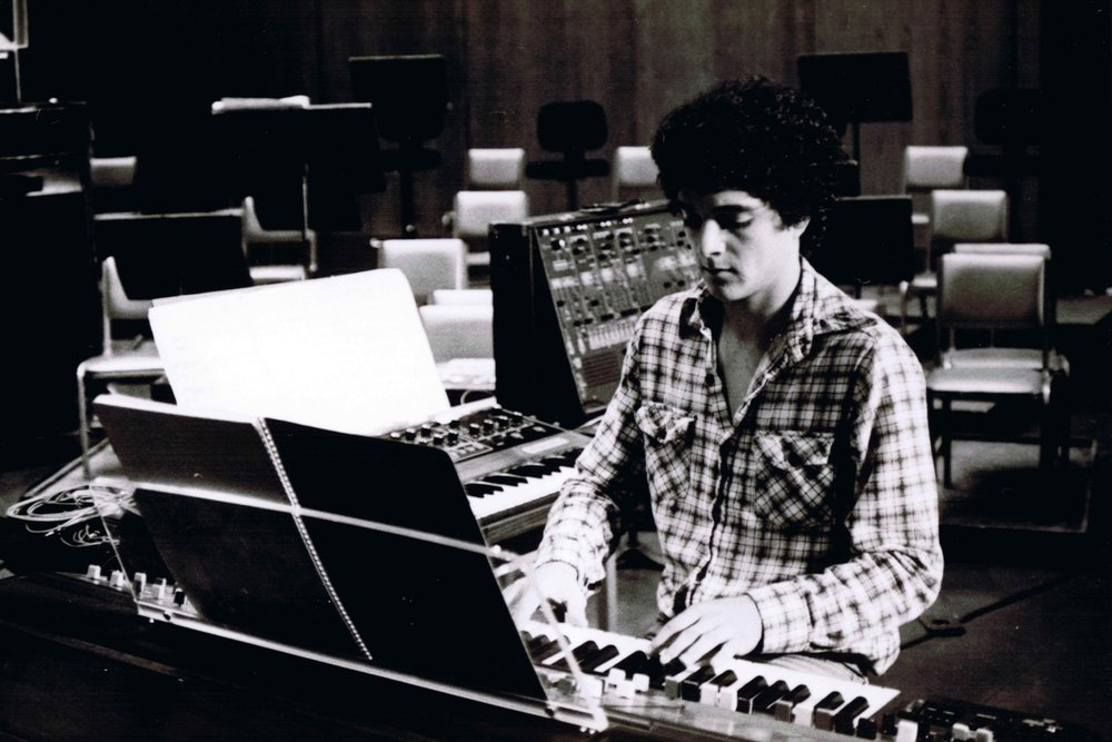 Anthony Marinelli rehearsal of Tchaikovsky's Romeo and Juliet Fantasy Overture. All synthesizer group The Synners. Featuring 6 Yamaha CS-80 synthesizers. The Dorothy Chandler Pavillion, LA, CA, 1980