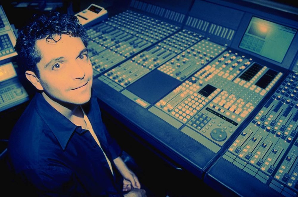 Anthony Marinelli with his new Euphonix CS 2000 mixing console Hollywood, CA, 1995