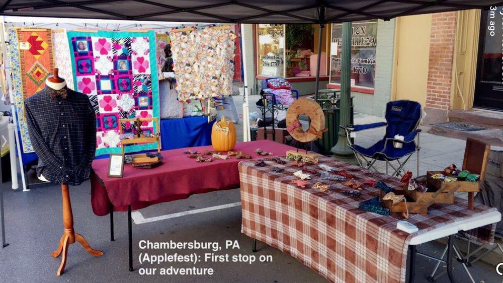 Our Applefest set up.