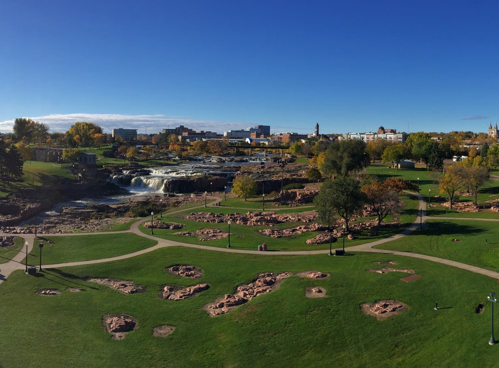 Panorama view of Sioux Falls.