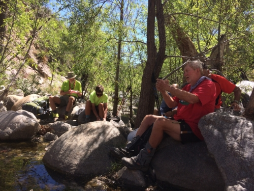 Break time in Bear Canyon