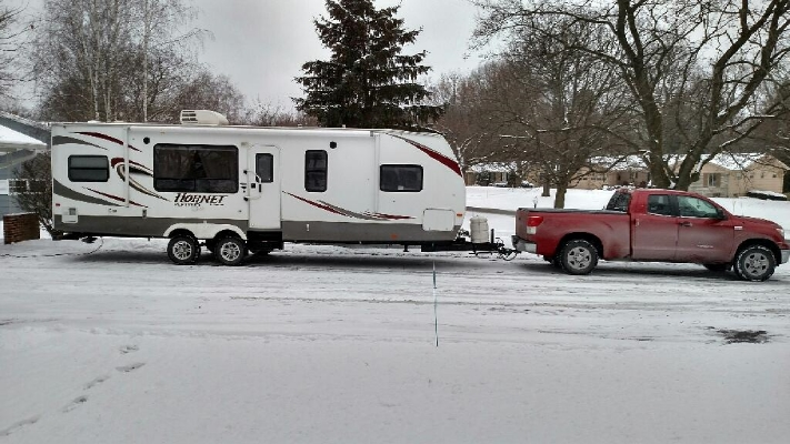 After 4 or 5 loops of the block--trailer is parked at the Metzler's B&B/5 Star Restaurant/Workshop
