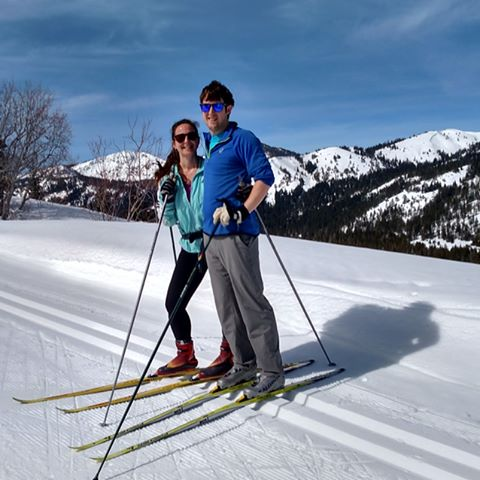 Why didn't the Donners bring their skate skis?? #heaven #skiheaven #keepingupwiththeinlaws