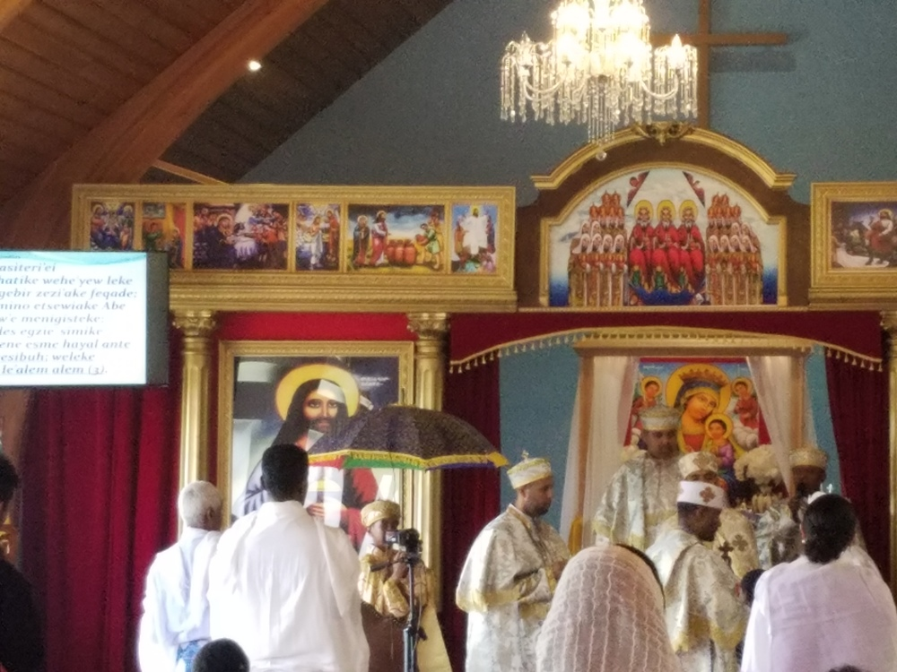 ON SATURDAY LITURGY WAS CONDUCTED IN ENGLISH, ONE OF THE DEACONS THAT ATTENDED WAS DN. ALEMAYEHU BAHTA WHO ALSO ORGANIZED THE PRACTICAL ACTIVITIES ON THURSDAY AND FRIDAY.