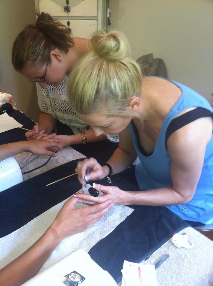 Learning shellac nails