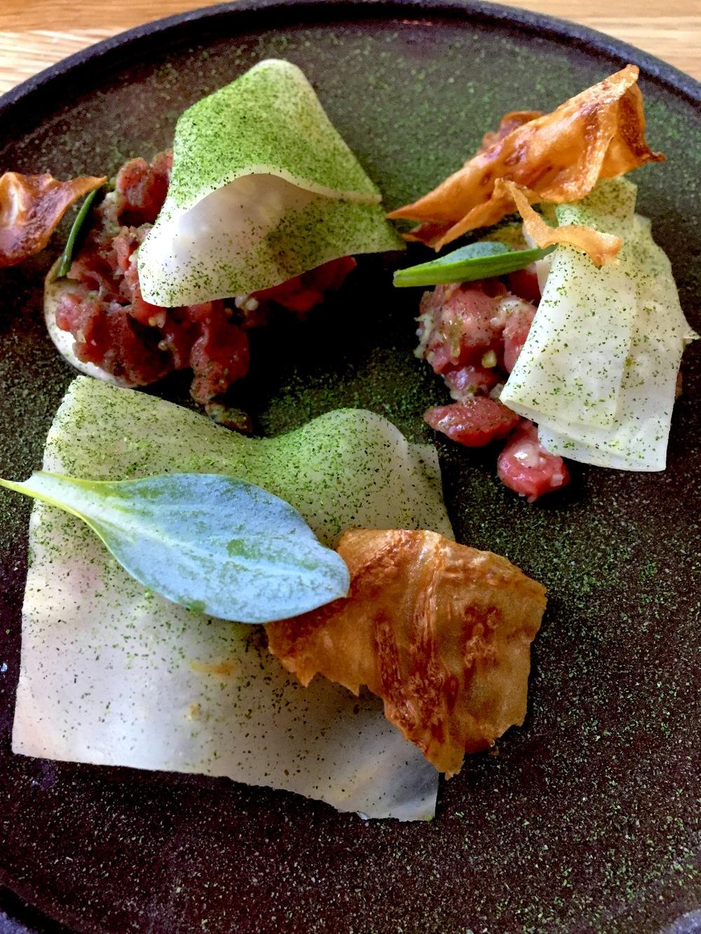 Beef, oyster, celeriac, tarragon Forest & Marcy