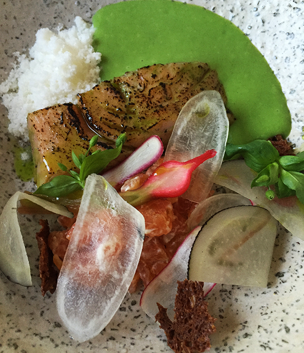 Smoked salmon, lovage, radish Forest & Marcy