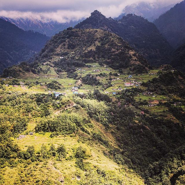 View from the Kaski region in Nepal where our Janakalyan School Tuckshop Program is providing nutritious school lunches to the children in Makai Khola.