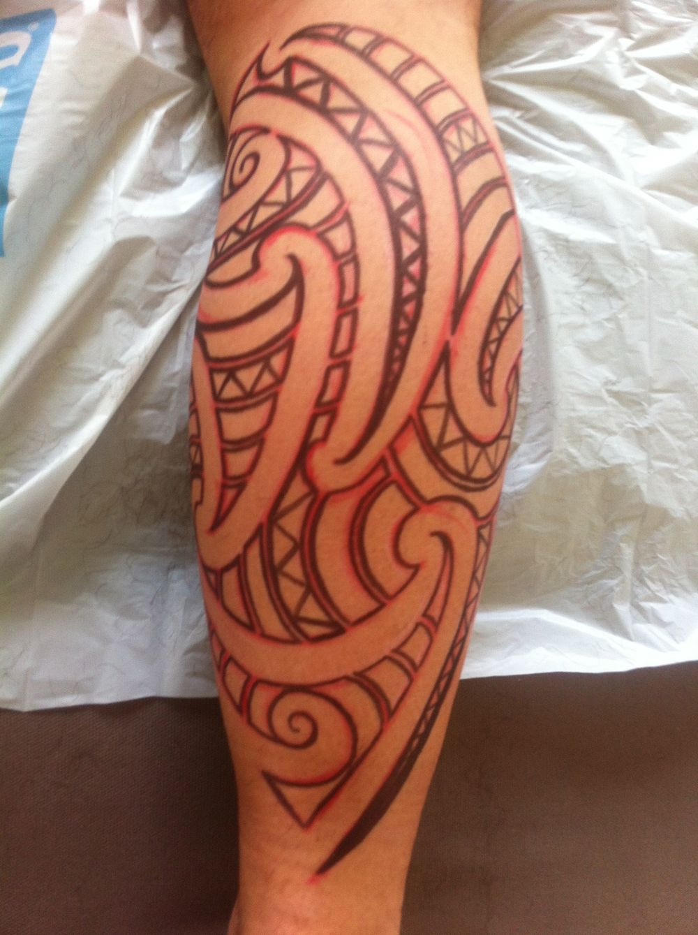 Freehand draw up for one of the kirituhi I made in Paris, before the tattooing process begins.