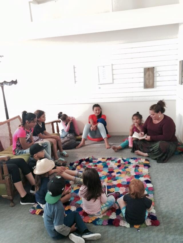 Storytelling workshop with writer Sophie Jolley who has recently published a children's book in collaboration with artist Robyn Kahukiwa.
