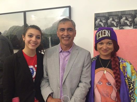 With New York based Māori gallerist John Royal and his daughter.