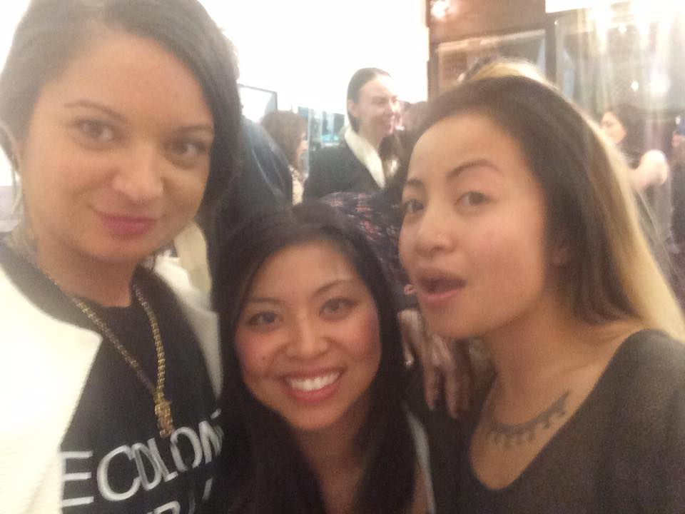 With my new friends Tiff and Sammay at Ora Ny Gallery.
