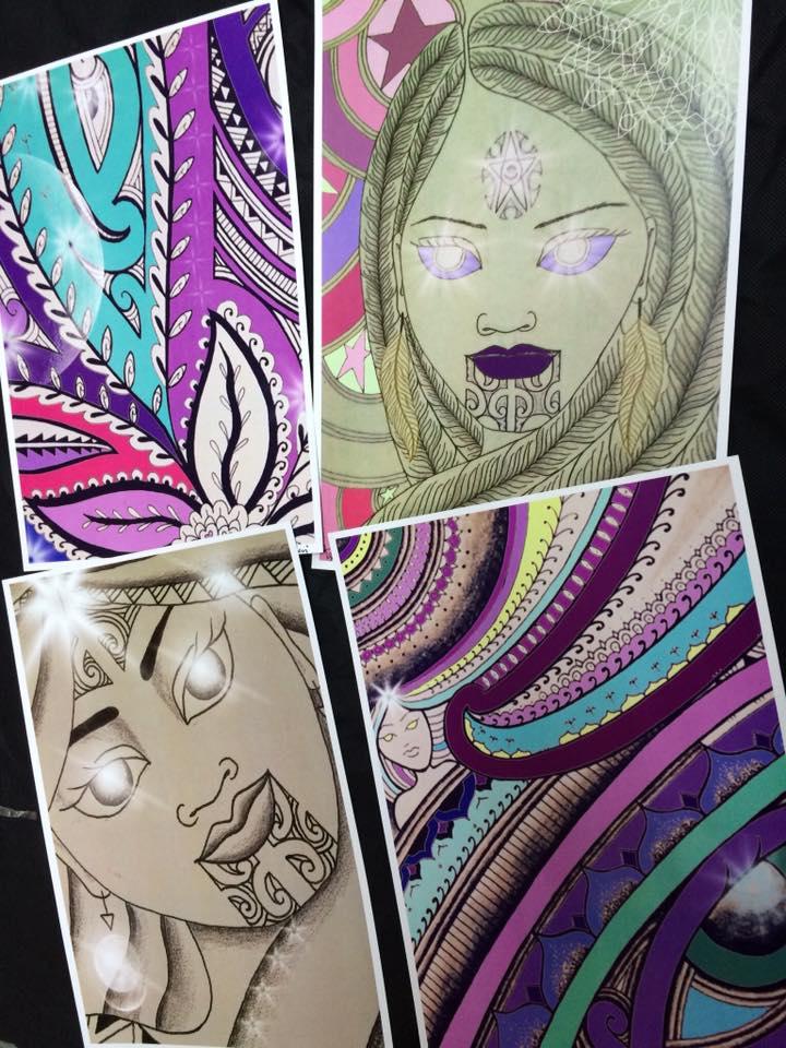Small art prints by Taryn Beri.