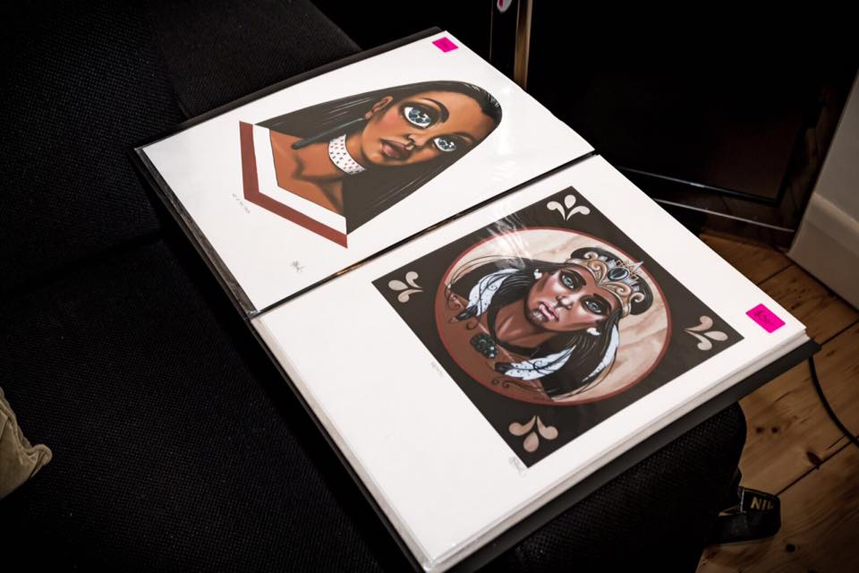 Prints by Xoe Hall.