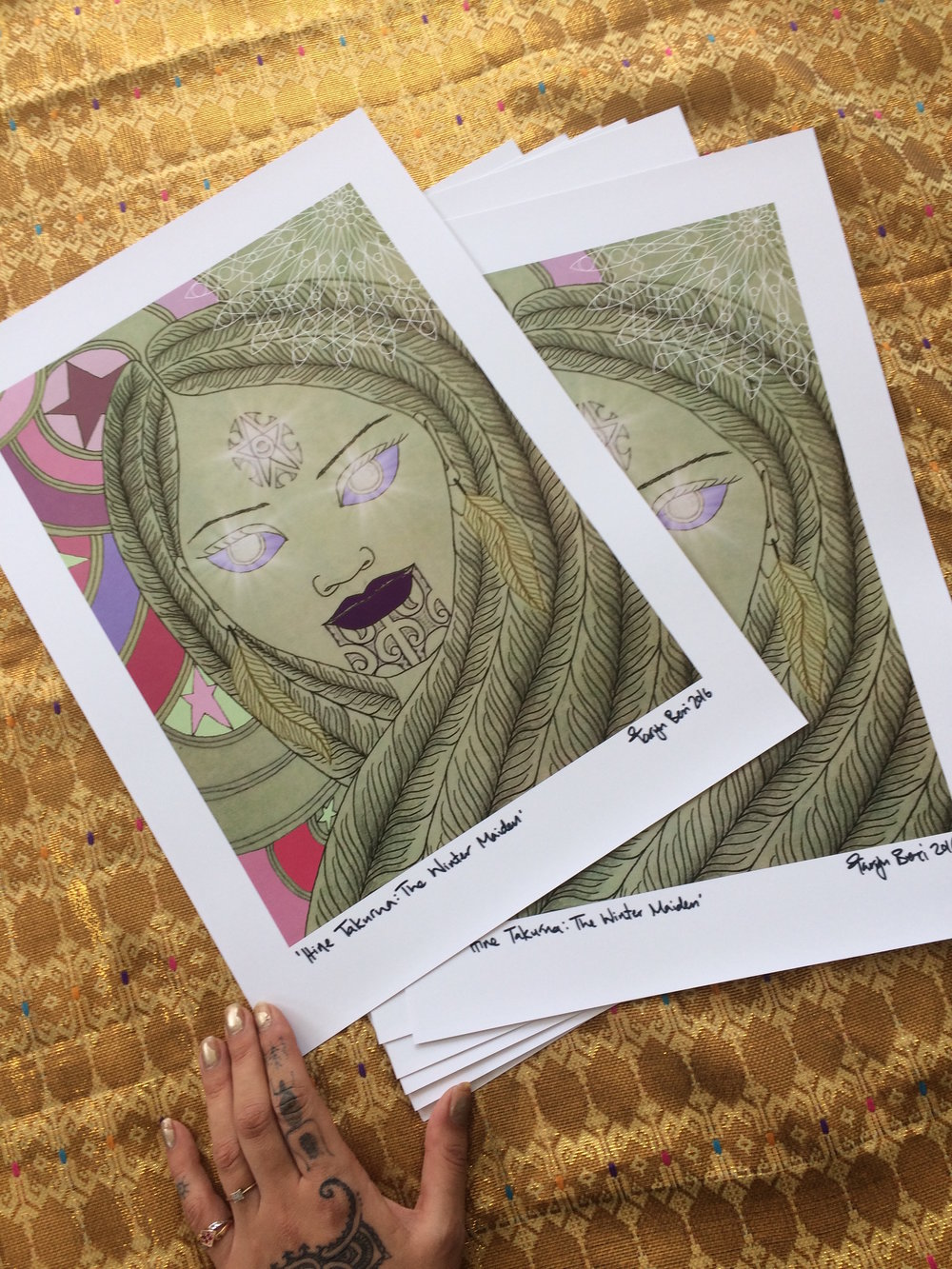 A3 size art prints ready for you to frame.
