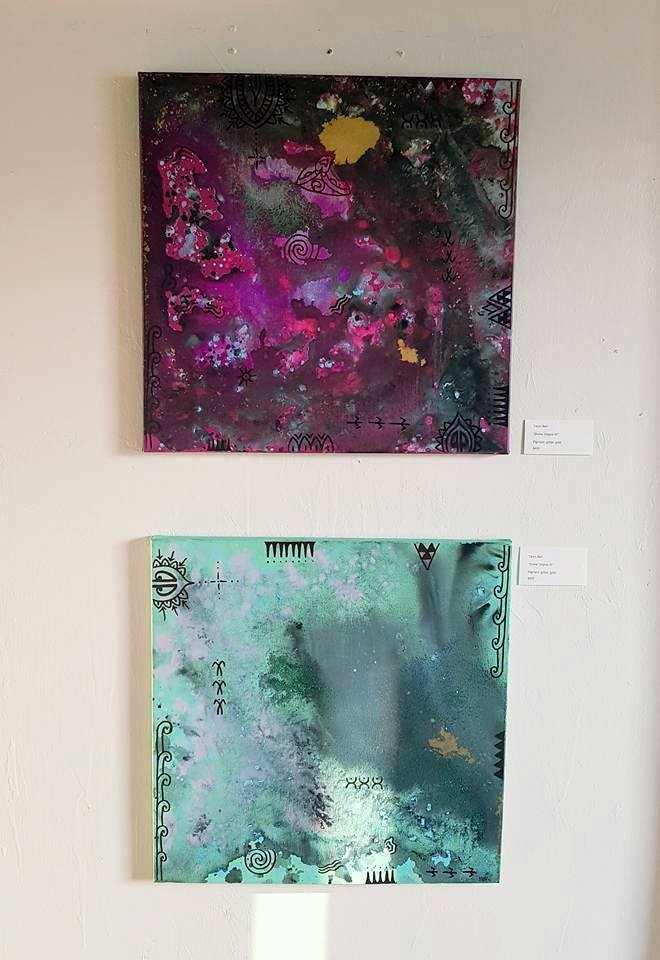 Two of my paintings in this exhibition.