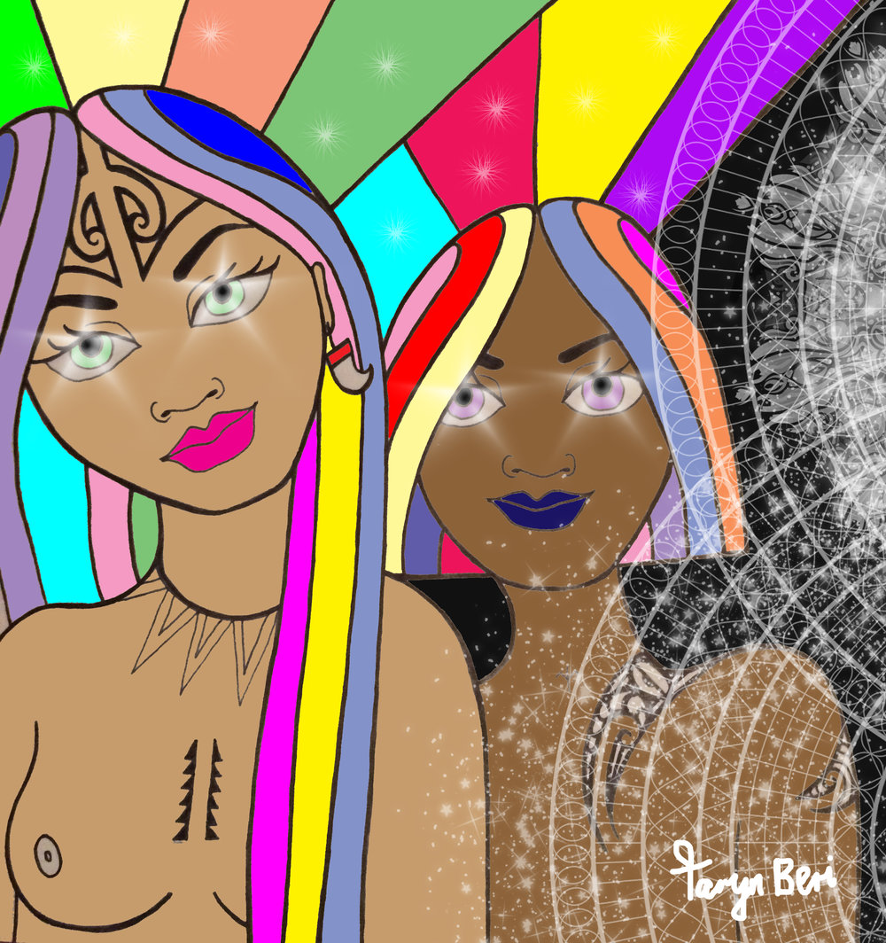 'Mystic Sisters II' by Taryn Beri. Click on the image to learn more or buy now.