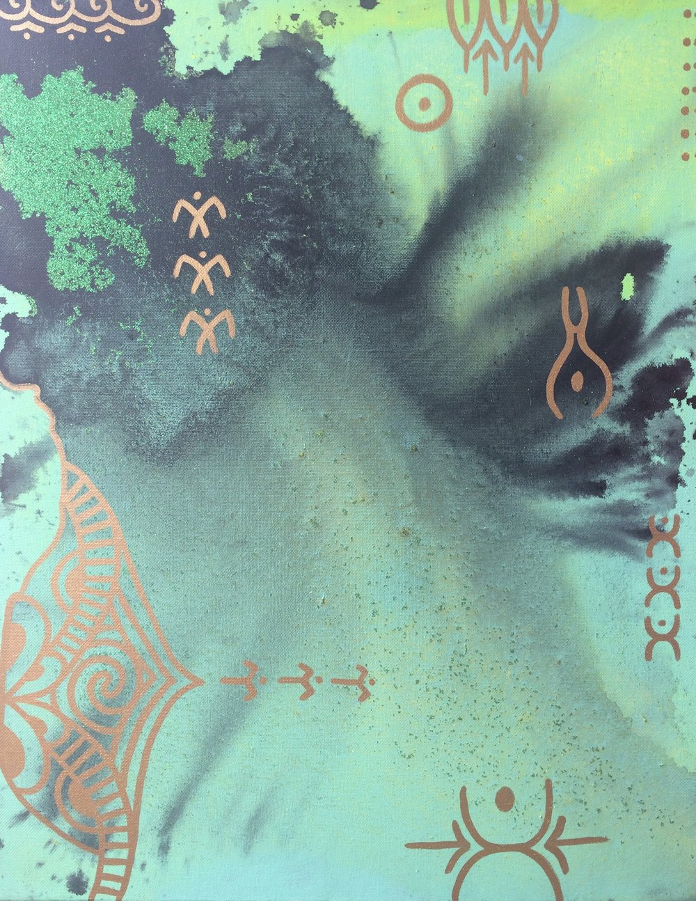 DIVINE ORIGINS I 41cmx50cm 2017 Taryn Beri original framed canvas acrylic .jpg