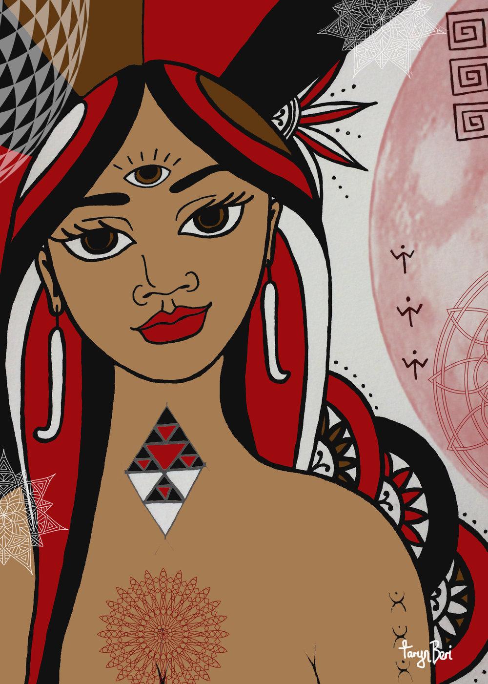 maori angel oracle buy art mana wahine toa spiritual