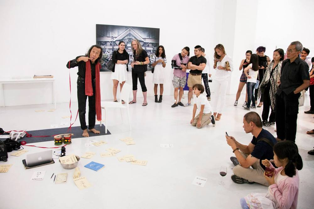 Performance by Lee Wen on opening night.