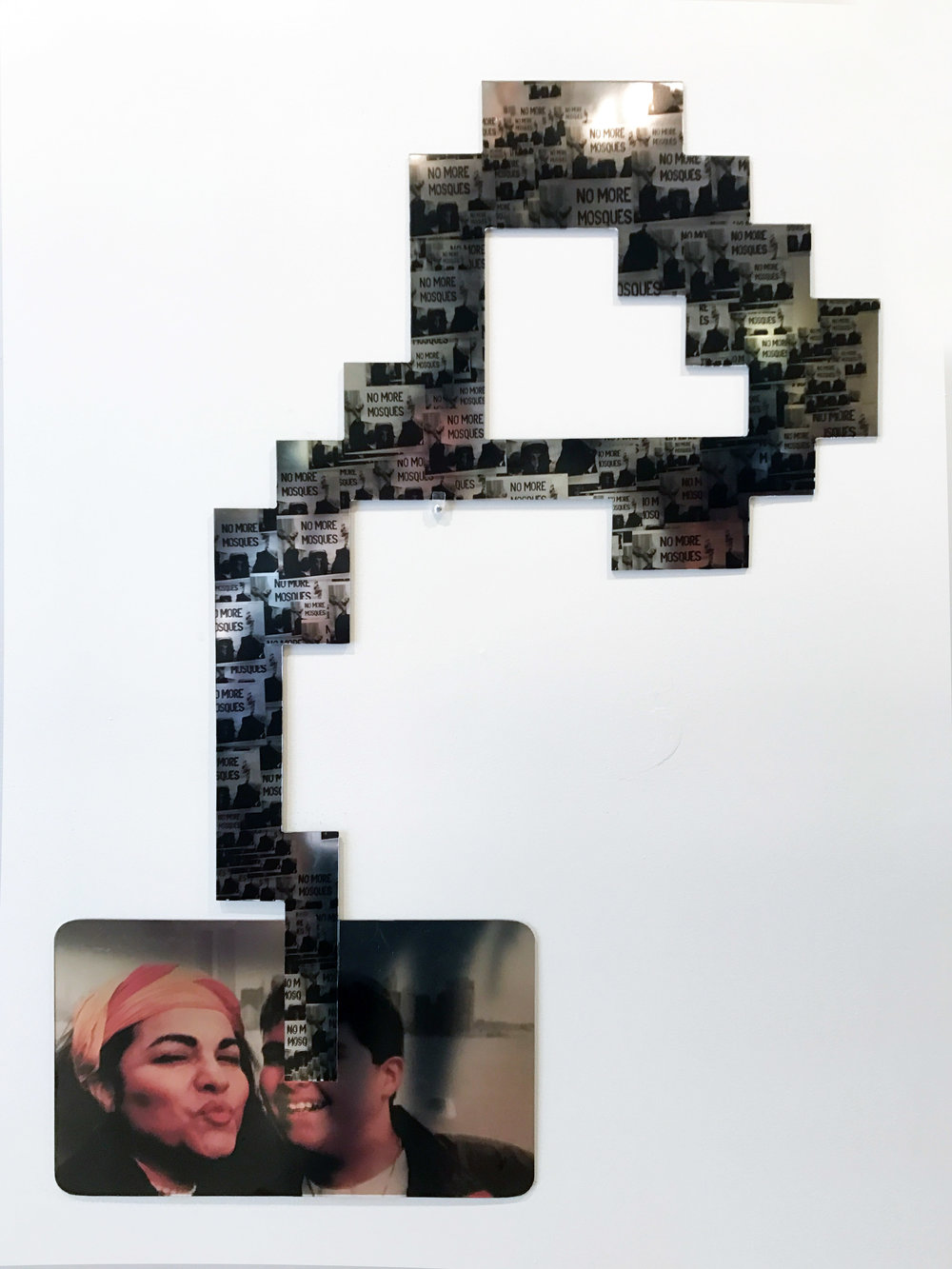 "Alexandre Dorriz, ""Untitled"",2017. (Installation View) Acrylic,Mirror, Mixed Media."