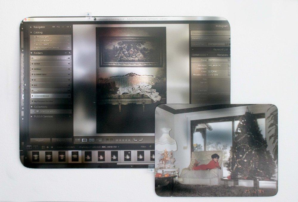 "Alexandre Dorriz, ""Untitled"", 2017. (Installation View) Acrylic,Mirror, Mixed Media."