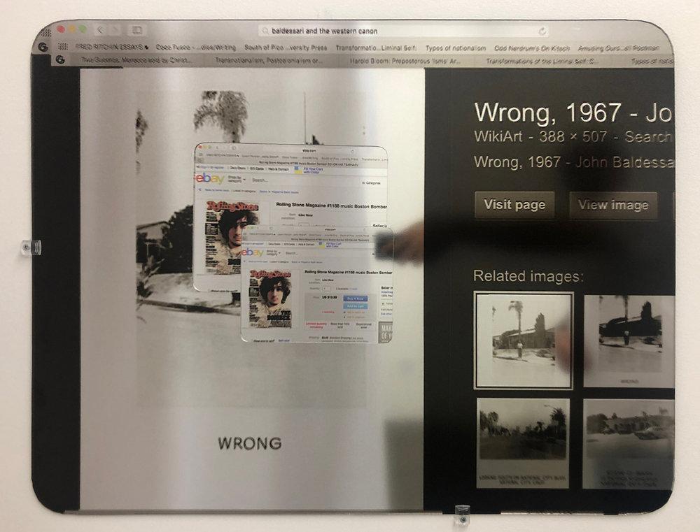 "Alexandre Dorriz, ""Untitled"", 2017. (Installation View) Acrylic, Mirror, Mixed Media."