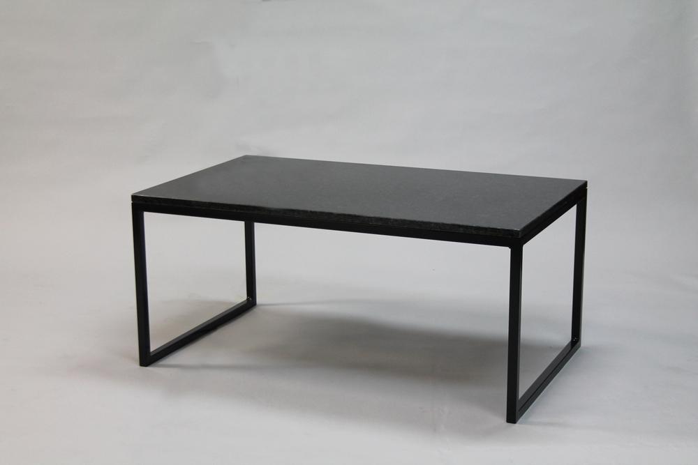 Granitbord - 120x60 x  45  cm, svart underrede halvkub   SLUT!