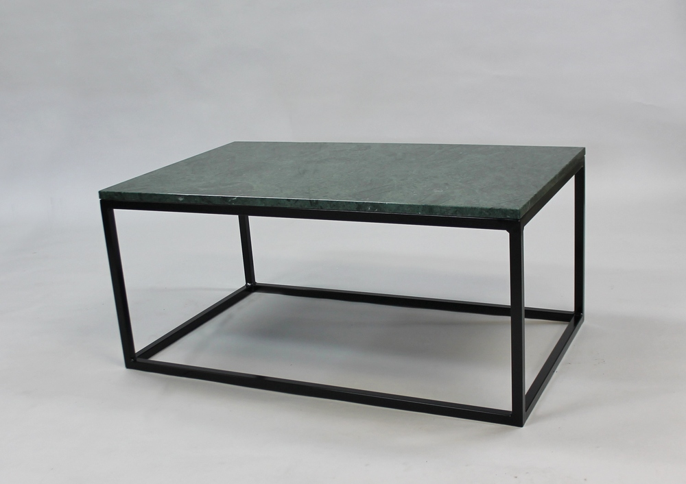Marmorbord, grön - 100x60x45 cm, svart underrede kub Pris 6 000:- inkl frakt Finns även i 120x60 cm - pris 7 000:- inkl frakt