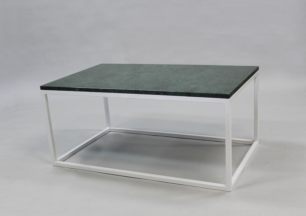 Marmorbord, grön- 100x60x45 cm, vitt underrede kub Pris 6 000:- inkl frakt Pris nu 3000:- inkl frakt Finns även i 120x60 cm - pris 7 000:- inkl frakt Pris nu 4000:- inkl frakt