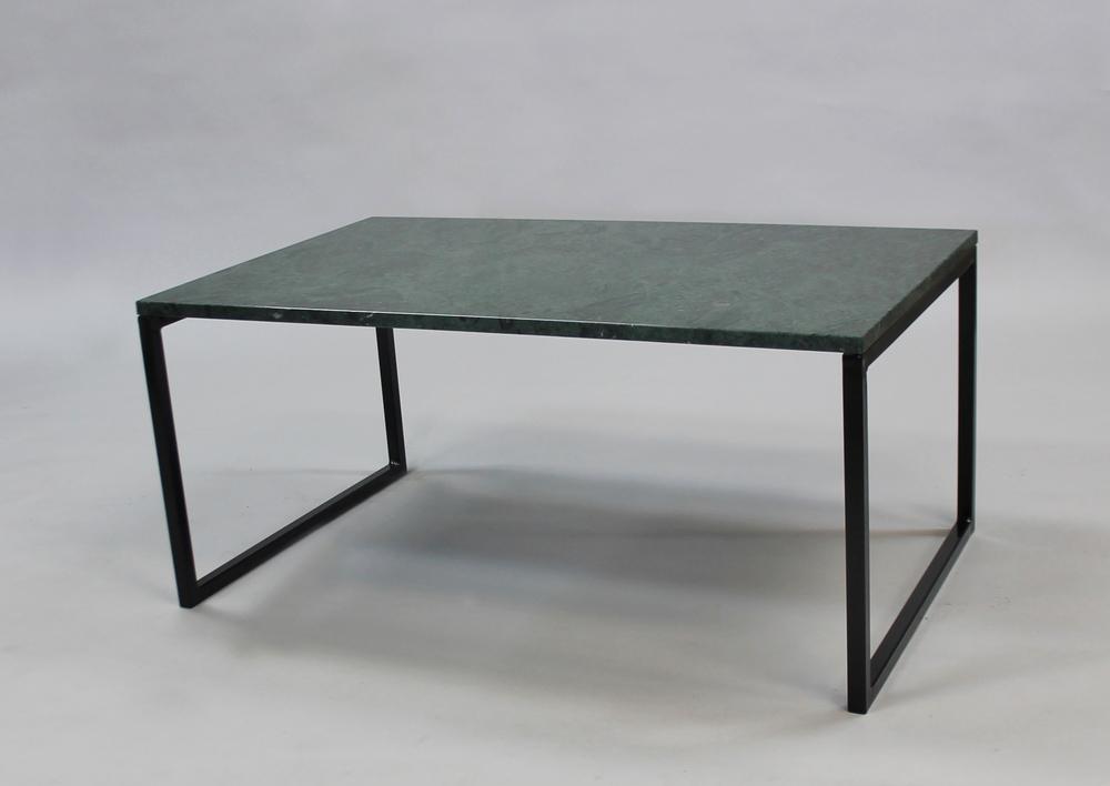 Marmorbord, grön- 100x60x45 cm, svart underredesvävande Pris 6 000:- inkl frakt Finns även i 120x60 cm - pris 7 000:-inkl frakt
