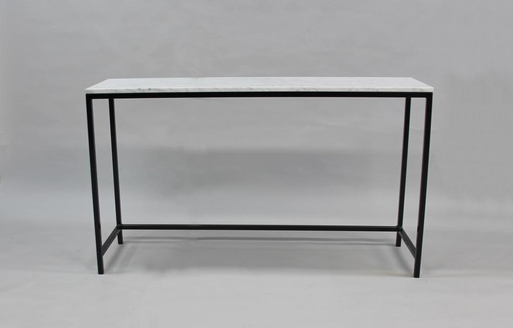 Marmordbord, vit - 120x30x74 cm, svart underrede SLUT! Finns även i 140x40x74 cm -NU! pris 4 000:- inkl frakt