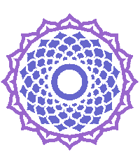Thousand-petal lotus Crown Chakra symbol.