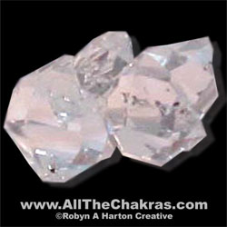 "Herkimer ""Diamond"" Quartz is a crown chakra stone."