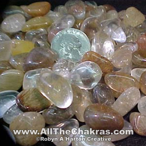 Rutilated quartz is one solar plexus chakra stone.