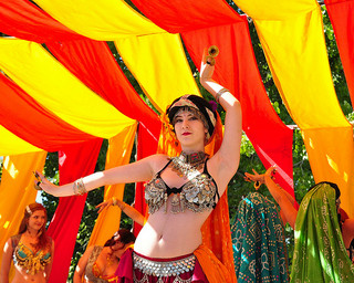 Belly dancing is an exercisethat can benefit the solar plexus chakra. Photo:  Some rights reserved  by  Larry1732