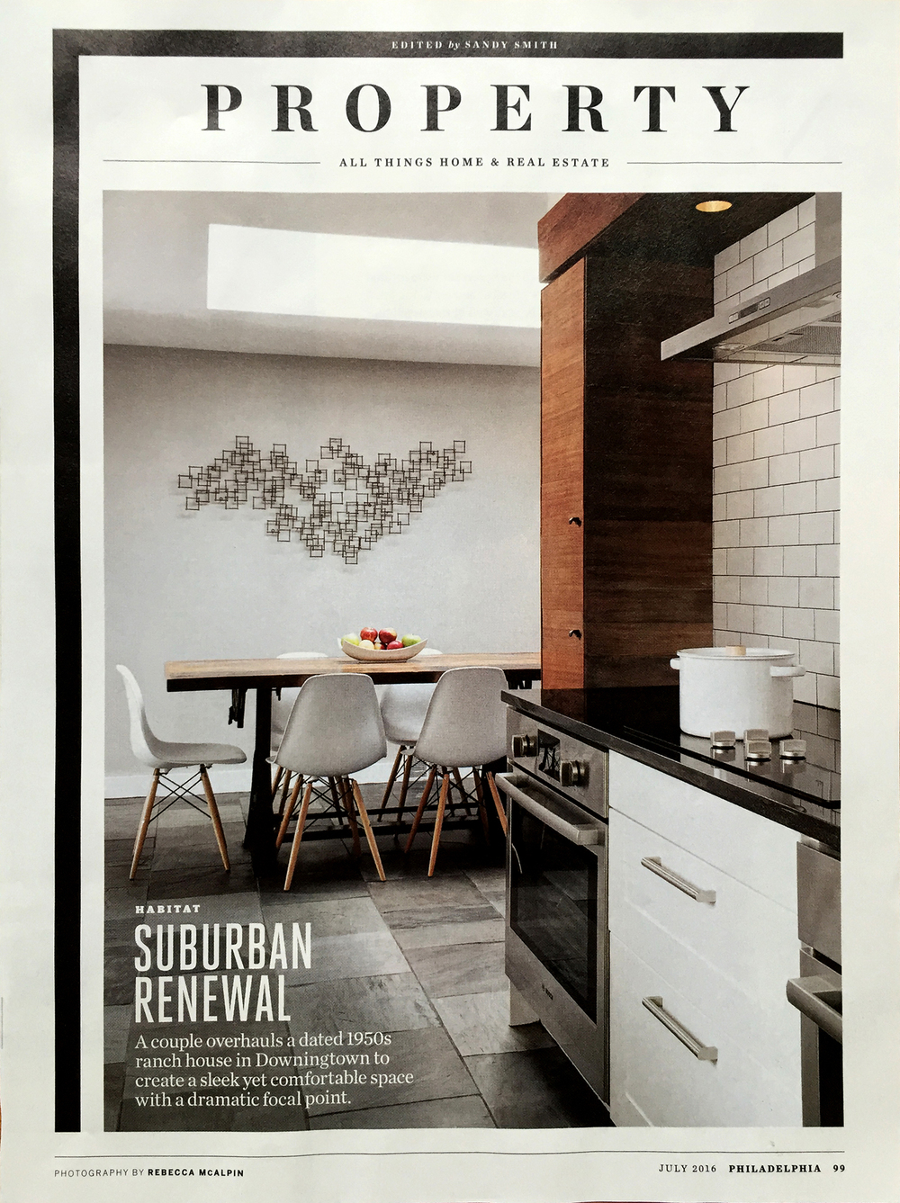 PAK-HUFFMAN RESIDENCE featured in Philadelphia Magazine