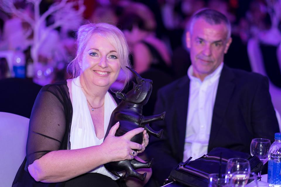 Patsy Stagman at the 2014 Rhino Revolution Dubai Black & White Ball