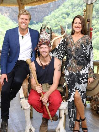 Chris Brown, Freddie Flintoff and Julia Morris