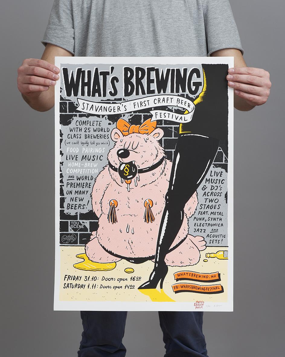What's Brewing - FRODE SKAREN Silketrykk 1 960 kr
