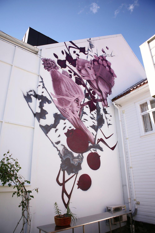 Verk av Terje Andersen. Kan ses fra Dr. Kraftsgate BUY THE ARTWORK