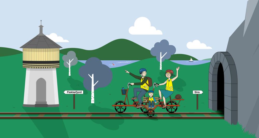 Den grafiske prodilen er utviklet av Rune Mortensen og websiden er utviklet av Webcode, som også er engasjert til å bista i den digitale markedsføringen av Flekkefjordbanen.