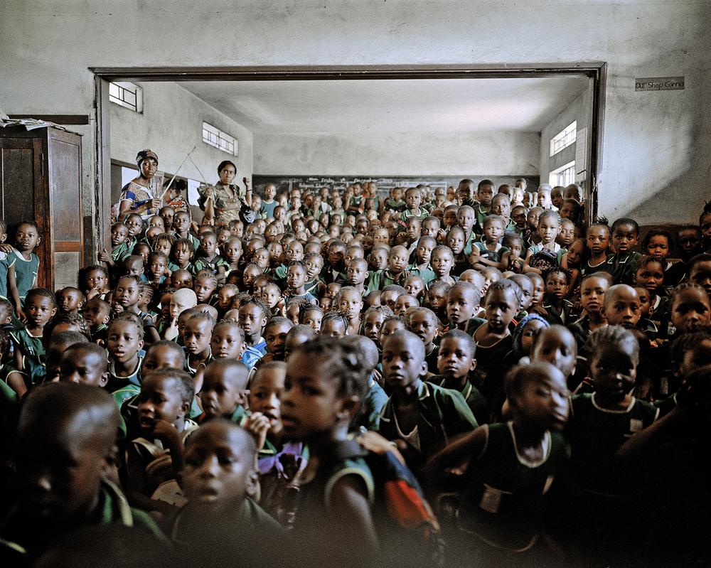 Cholera education. Holy Trinity Primary School, Freetown, Sierra Leone, 2012.