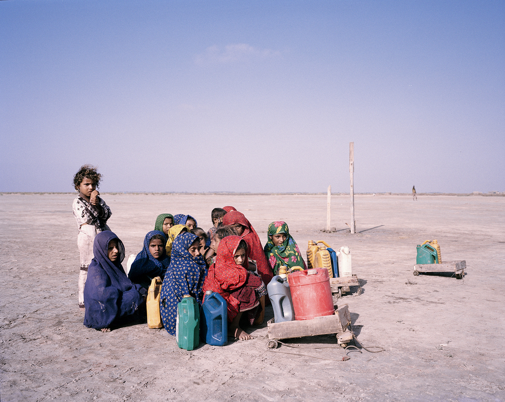 Children journey to collect water. Sindh, Pakistan, 2013.