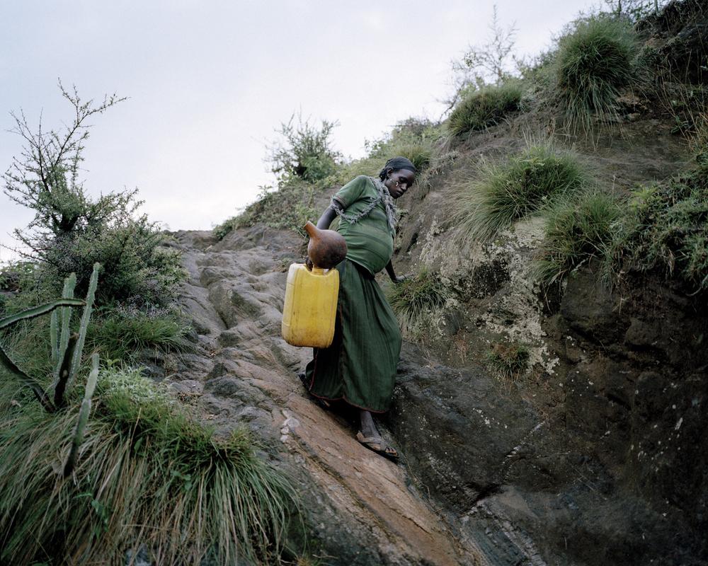 Uchiya Nallo, 8 months pregnant. Konso Region, Ethiopia, 2013.