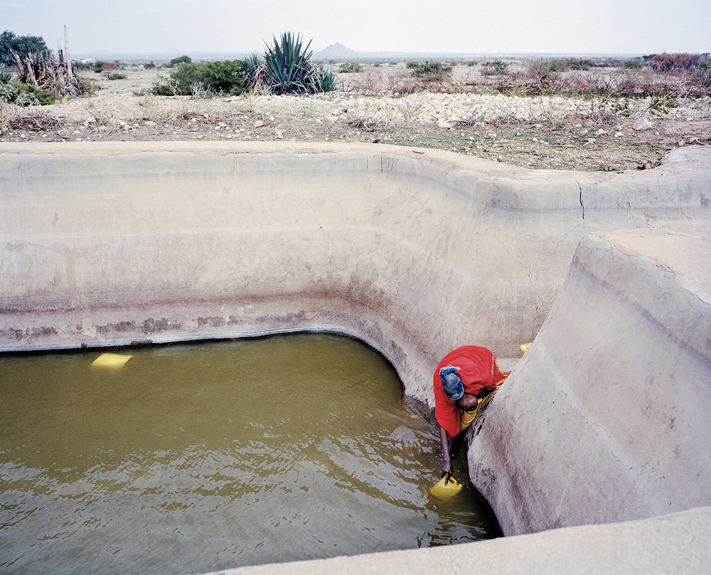 Desert open-pit water point. Somalia, 2013.
